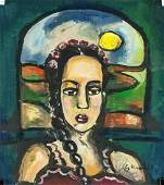 Georges Rouault French Fauvist Acrylic on Paper
