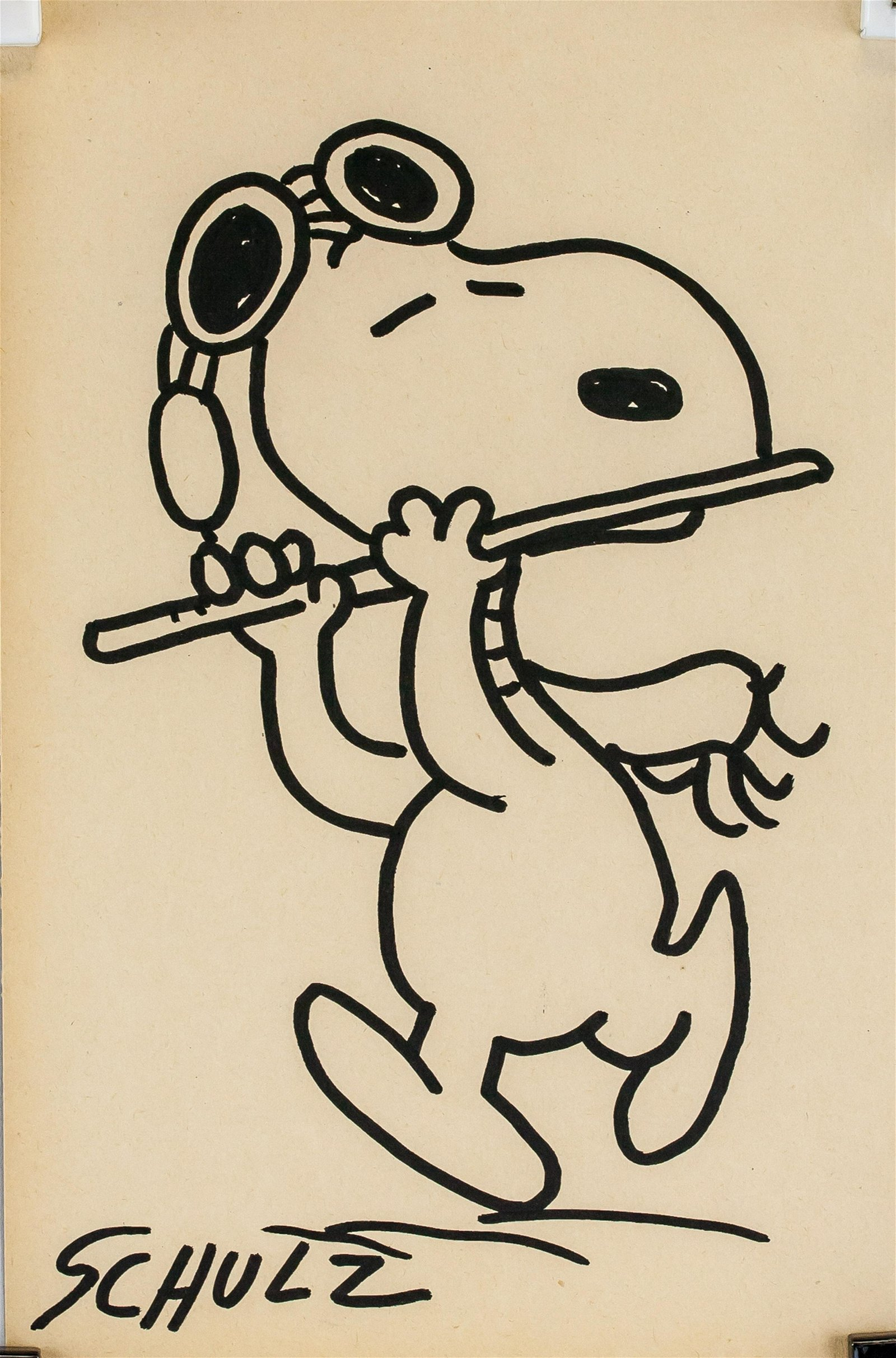 Charles Schulz American Pop Ink on Paper Signed