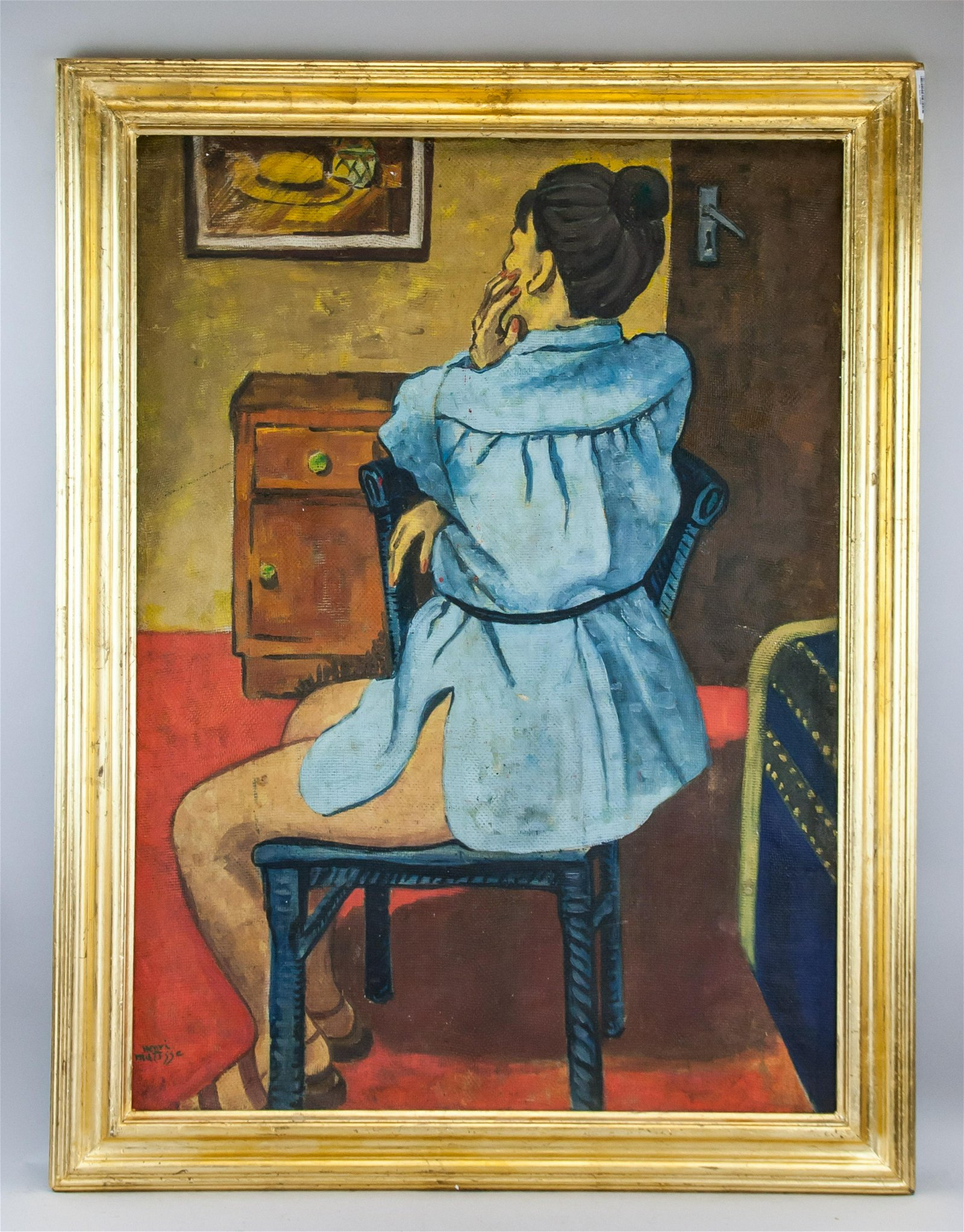 Henri Matisse French Oil Double Sided Painting