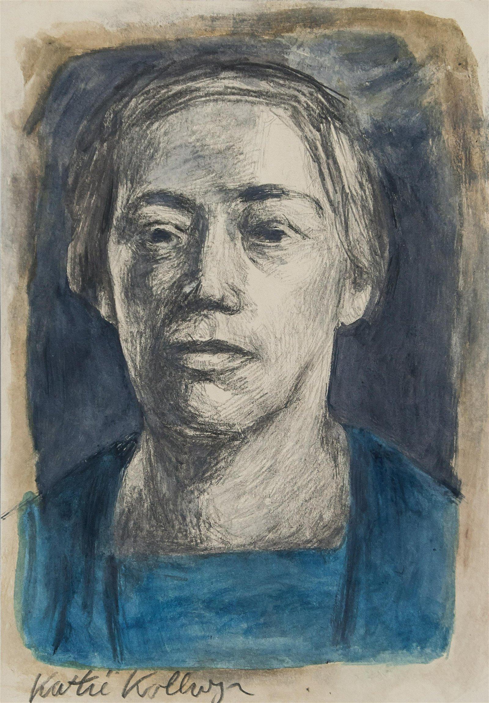 Kathe Kollwitz German Expressionist Mixed Media