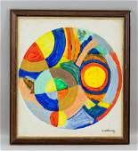 Robert Delaunay French Orphist Oil on Canvas
