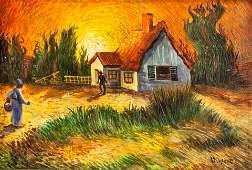 Dutch Impressionist OOC Signed Vincent Provenance