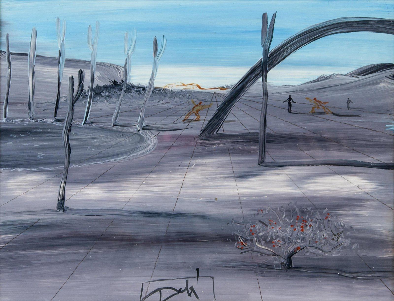 Salvador Dali Spanish Surrealist Tempera Stamped