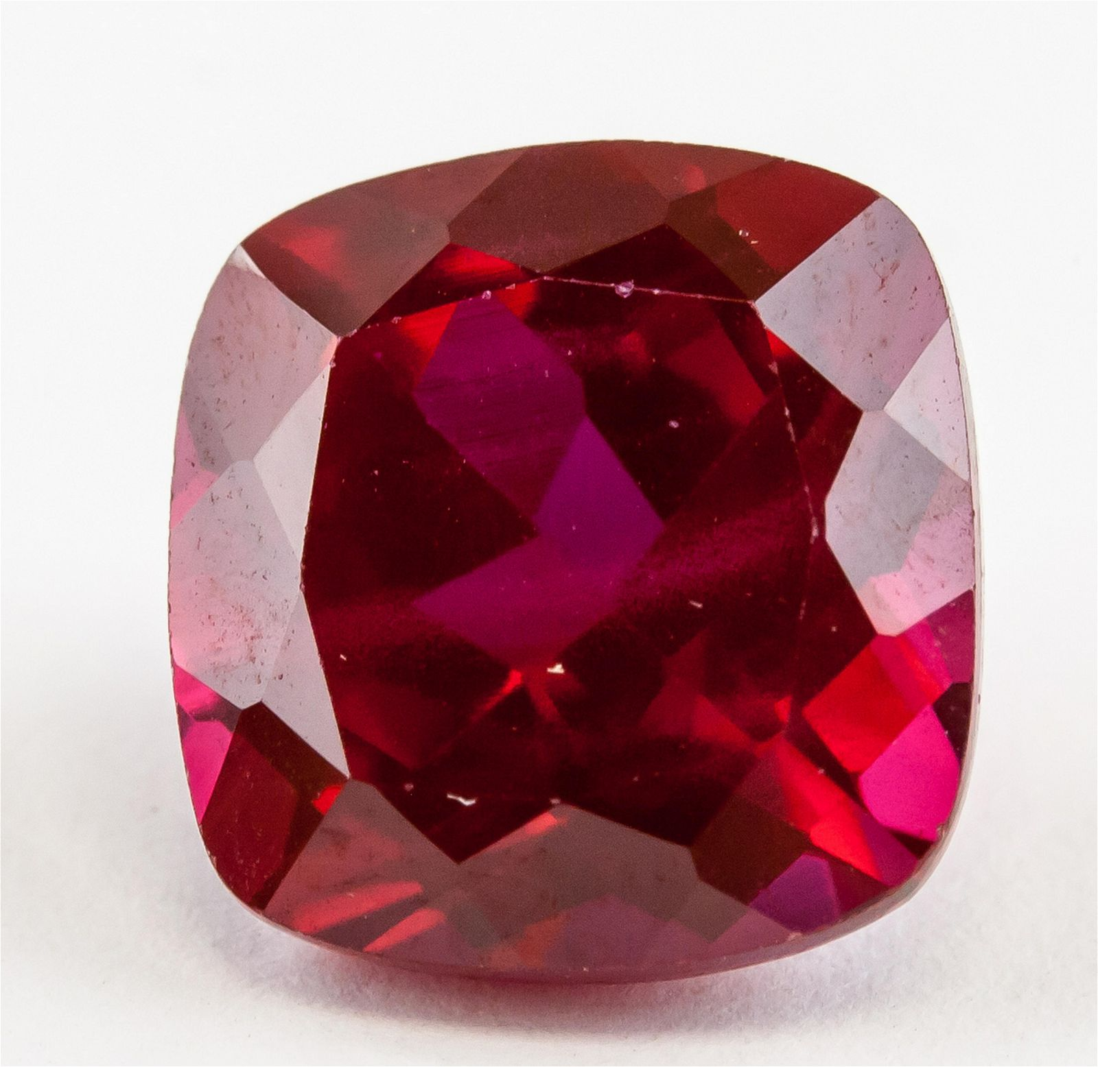 6.65 Ct Cushion Cut Red Ruby AGSL Certificate