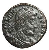 364368 Roman Empire Valens Follis Bronze Coin
