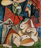 Pablo Picasso Spanish Cubist Oil on Canvas 3.4.70