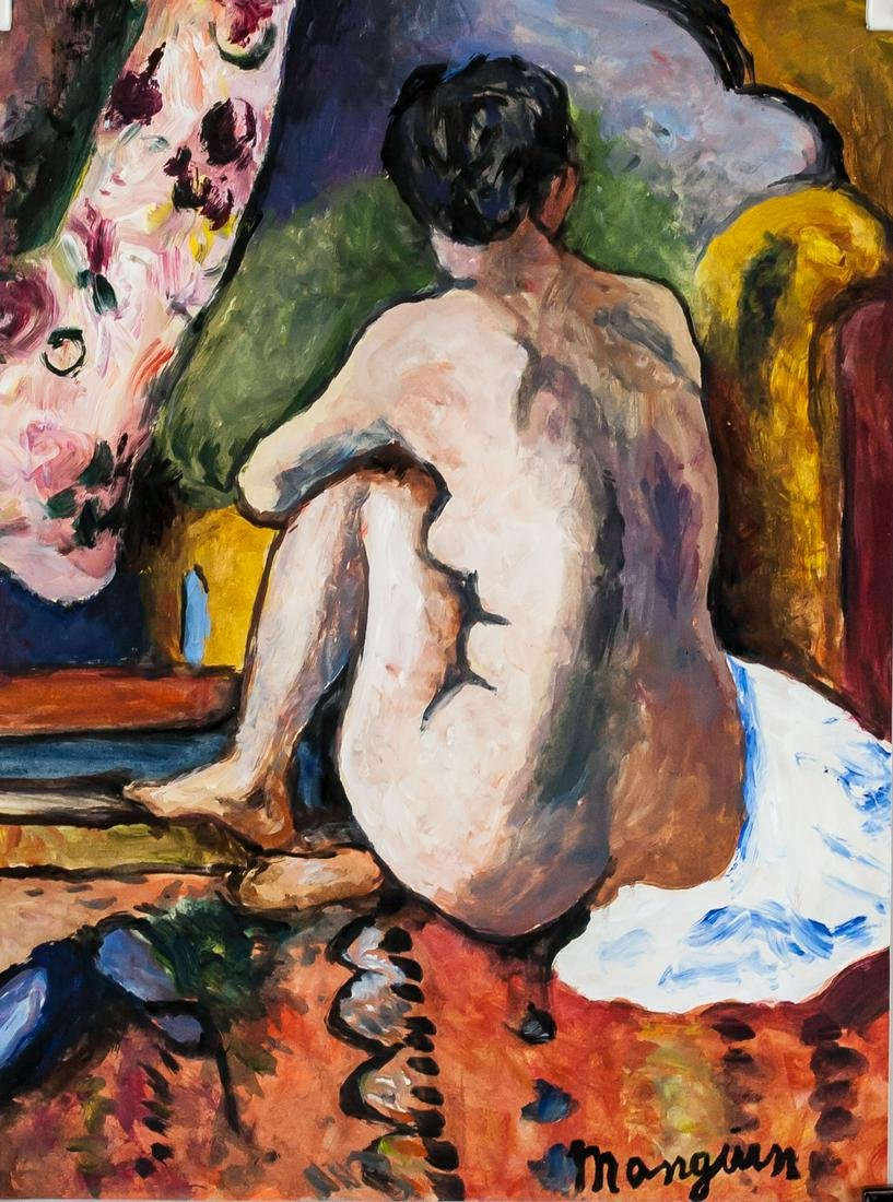 Henri Manguin French Fauvist Gouache on Paper