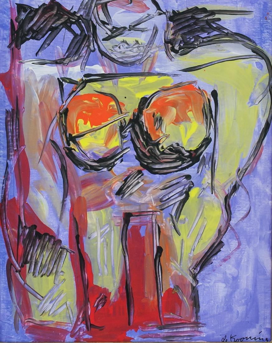 Willem de Kooning American Abstract Oil on Canvas