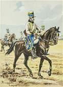 Pierre Albert Leroux 18901959 French Watercolor