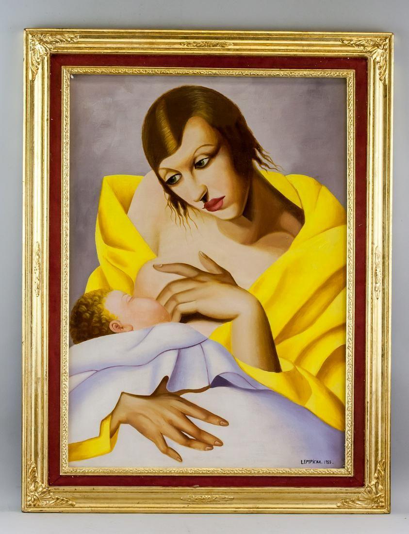 Tamara de Lempicka Polish Art Deco Oil on Canvas