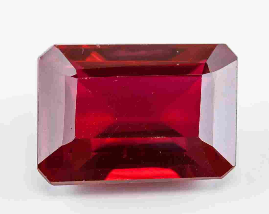 30.70 Ct Emerald Cut Red Natural Ruby Gemstone