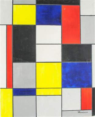 Piet Mondrian Dutch Oil Geometric Abstract