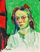 Gabriel Munter German Expressionist Tempera Paper