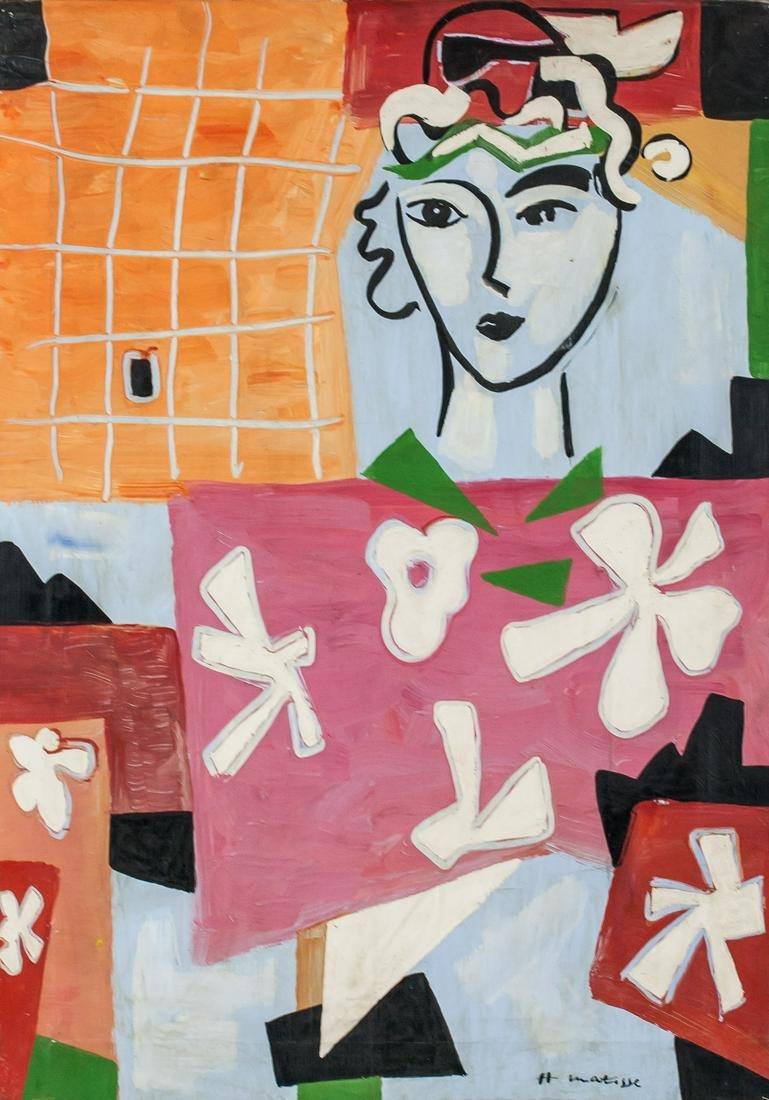 Henri Matisse French Fauvist Oil Canvas Portrait
