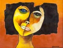 Oswaldo Guayasamin Ecuadorian Cubist Oil on Canvas