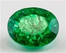 13.05 Ct Natural Cut Green Emerald GGL Certificate