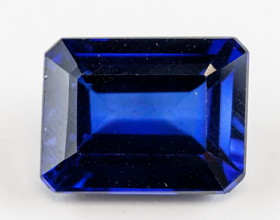 13.35ct Emerald Cut Blue Sapphire AGSL Certificate