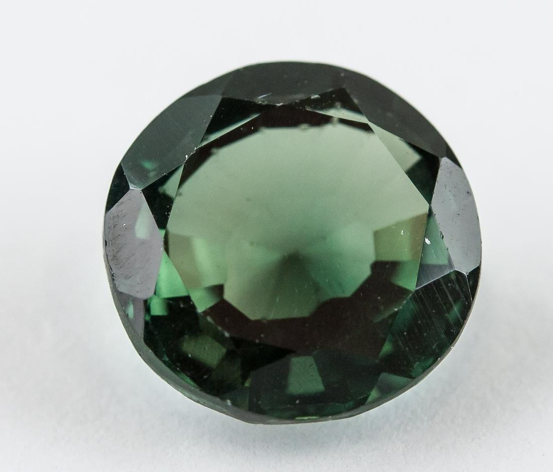 4.15 Ct Round Cut Green Sapphire Gemstone AGSL