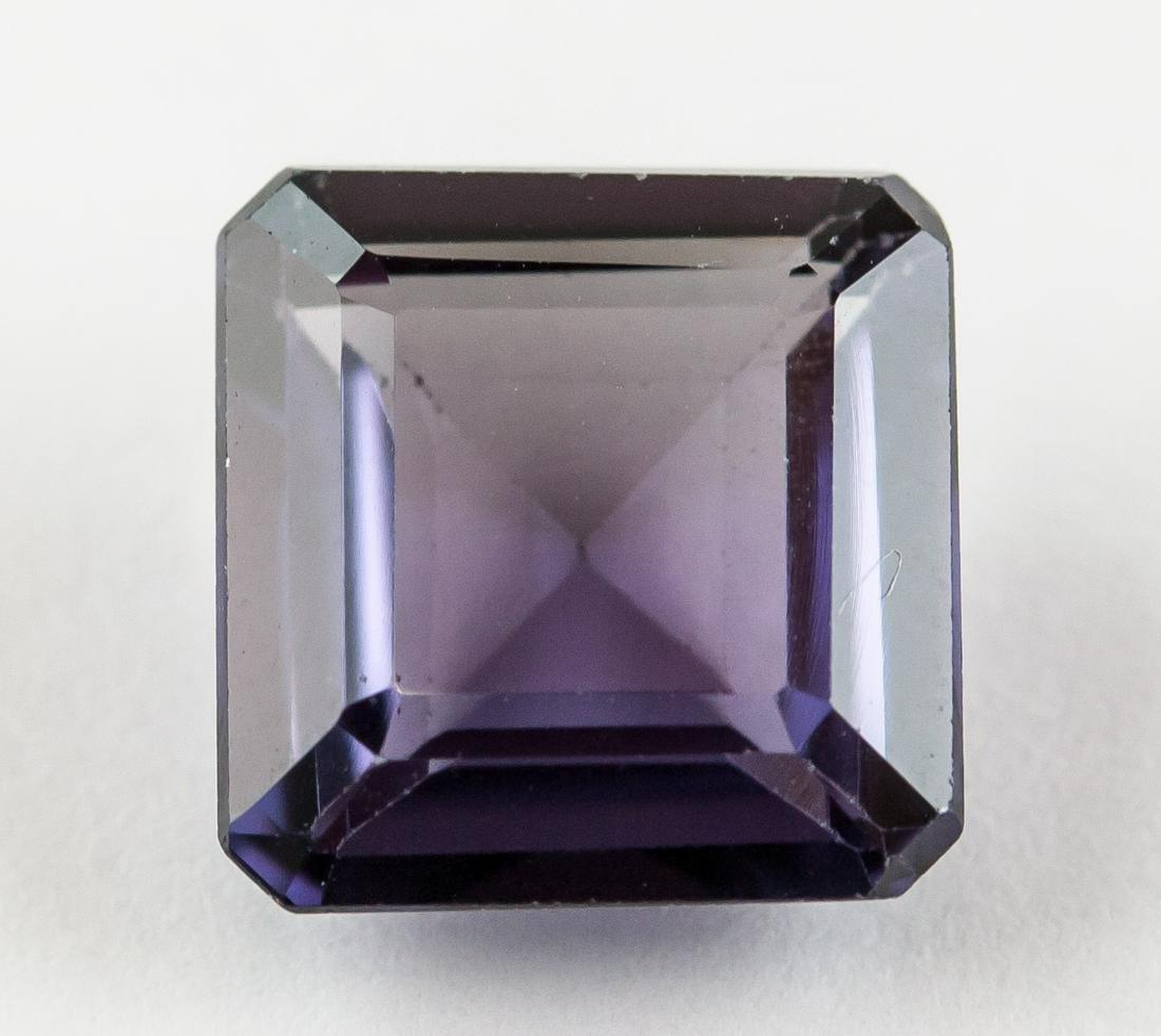 6.05 Ct Emerald Cut Natural Blue Purple Sapphire
