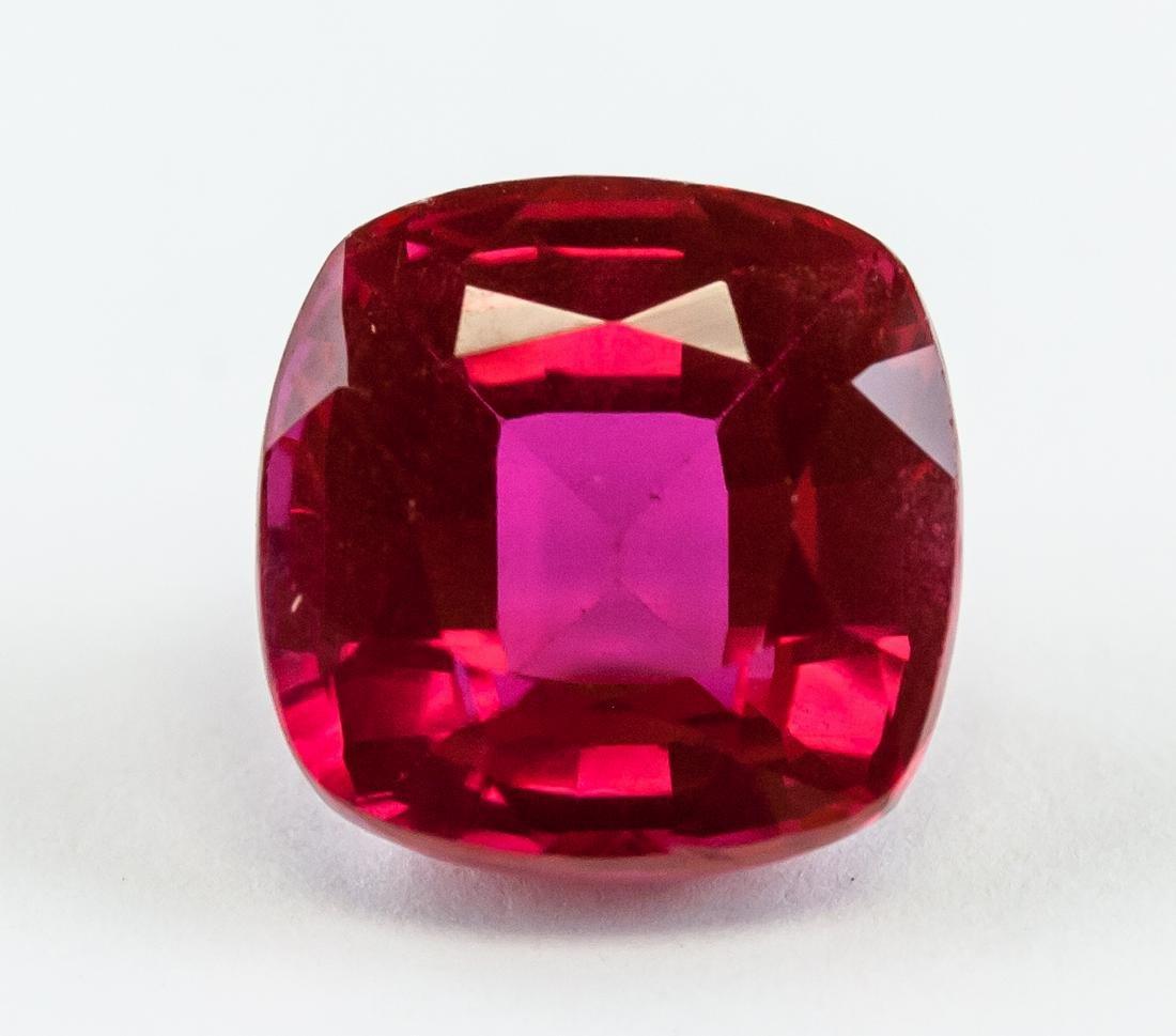 8.90 Ct Cushion Cut Pinkish Ruby Gemstone AGSL