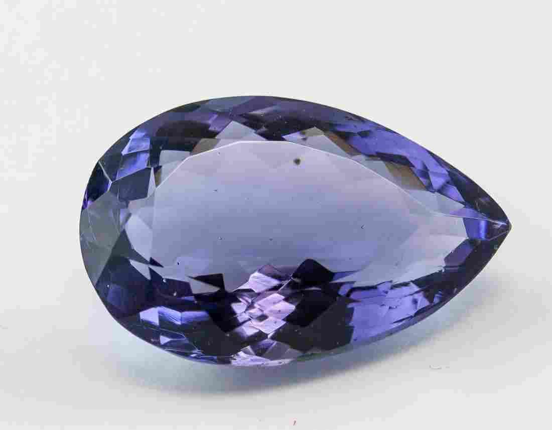 28.90 Ct Pear Cut Purple Amethyst Gemstone