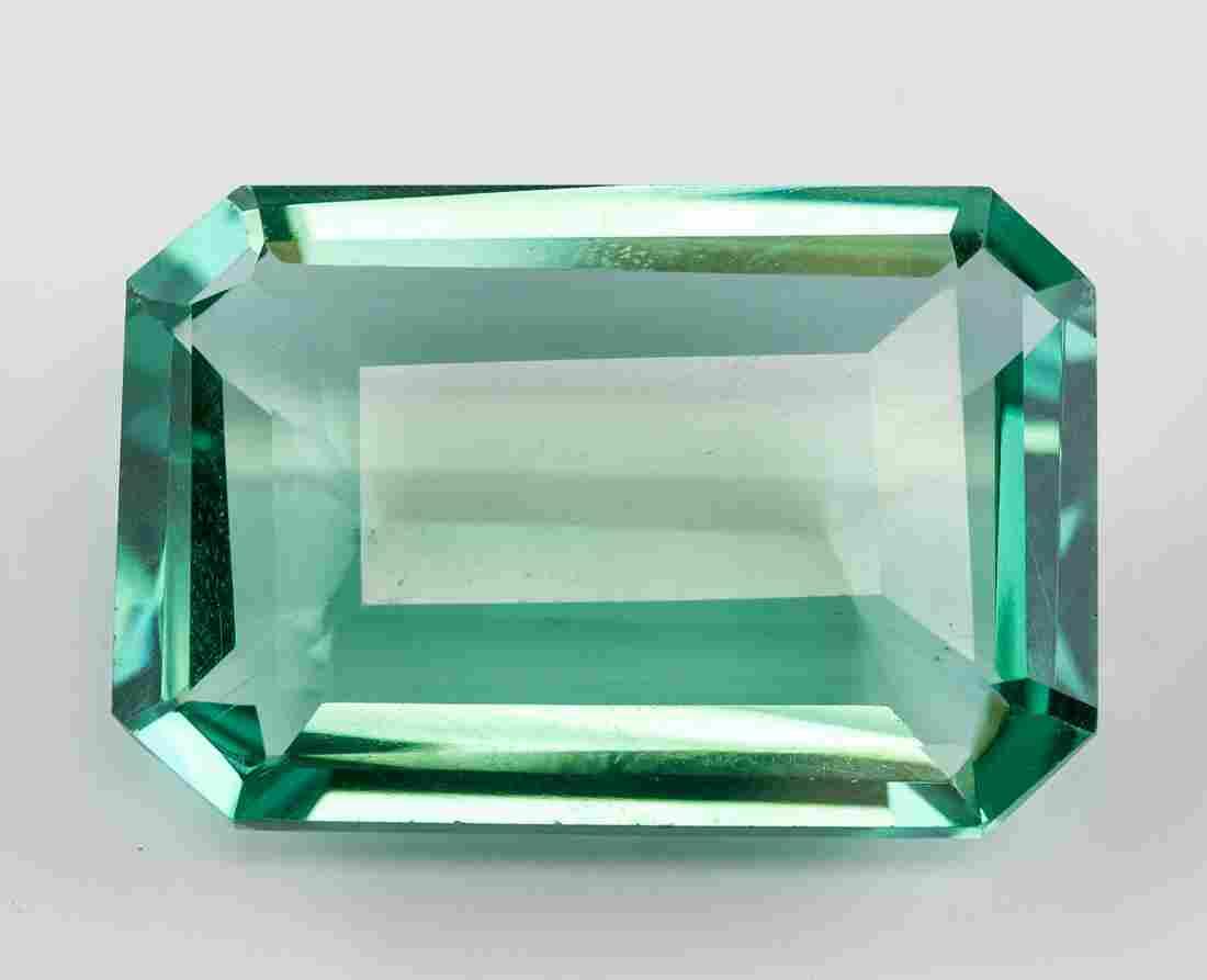 71.10 Ct Emerald Cut Green Amethyst Gemstone