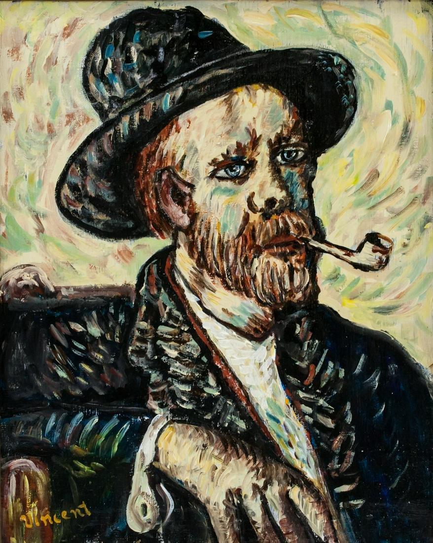 Dutch Impressionist Oil on Canvas Signed Vincent