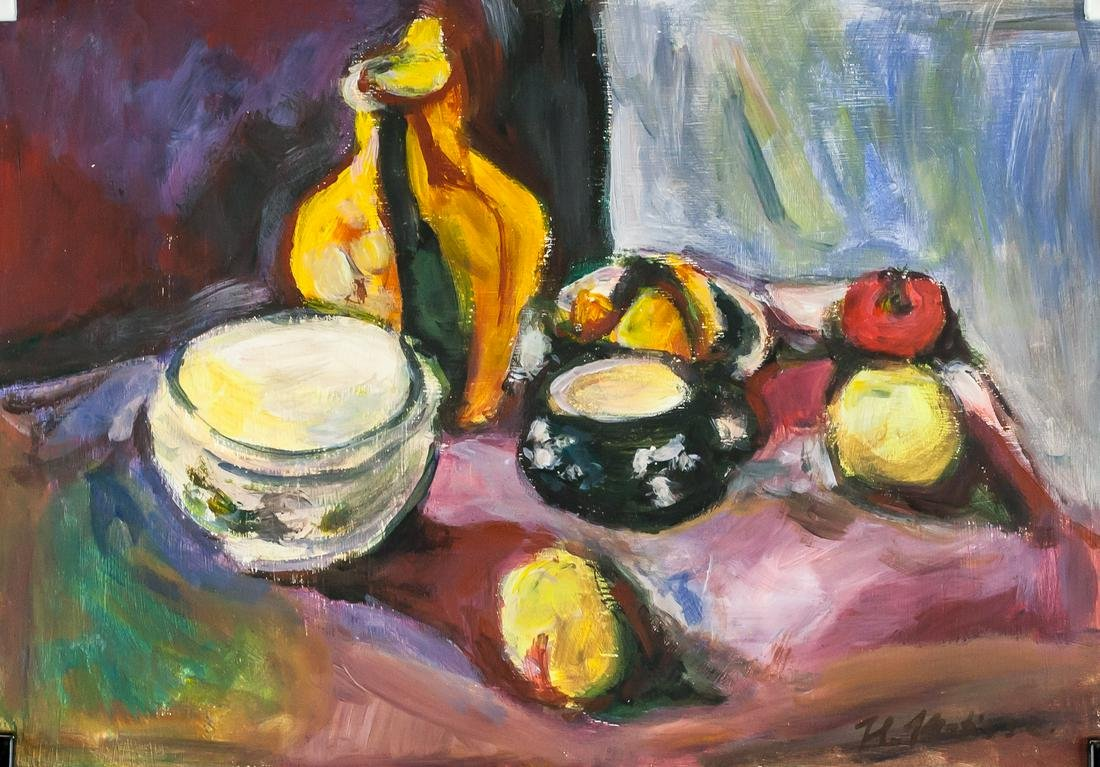 Henri Matisse French Fauvist Oil Tempera on Paper