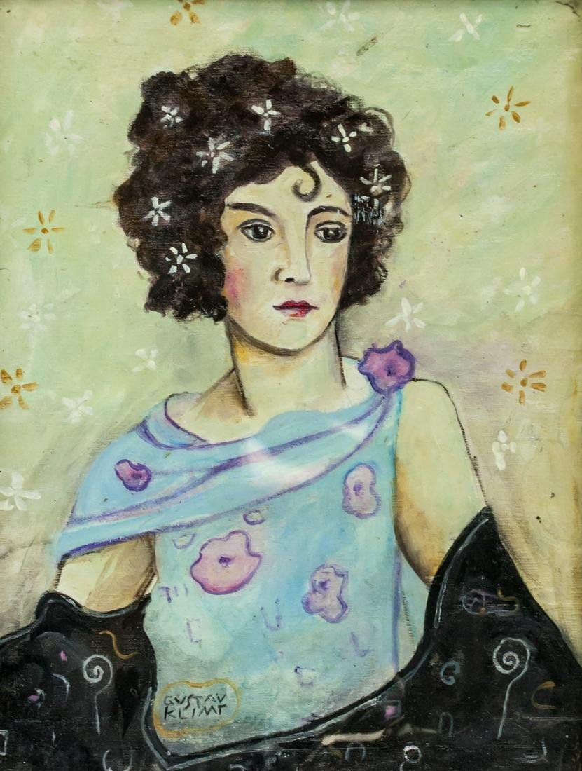 Gustav Klimt Austrian Art Nouveau Oil on Canvas