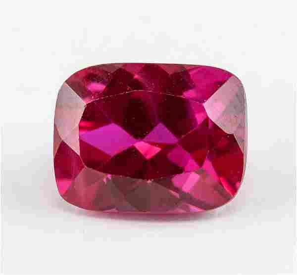 7.15 ct Pinkish Red Cushion Cut Ruby AGSL