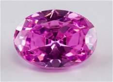 10.8 ct Pink Oval Cut Zircon Gemstone AGSL