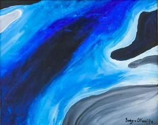 Georgia O'Keeffe American Modernist Oil on Canvas
