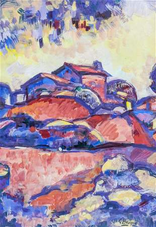 Georges Braque French Fauvist Gouache on Paper