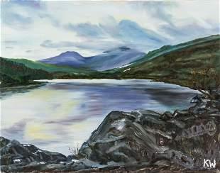 Kyffin Williams British Modernist Oil on Canvas