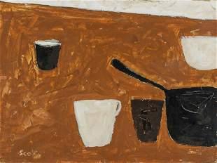 William Scott British Modernist Oil on Canvas