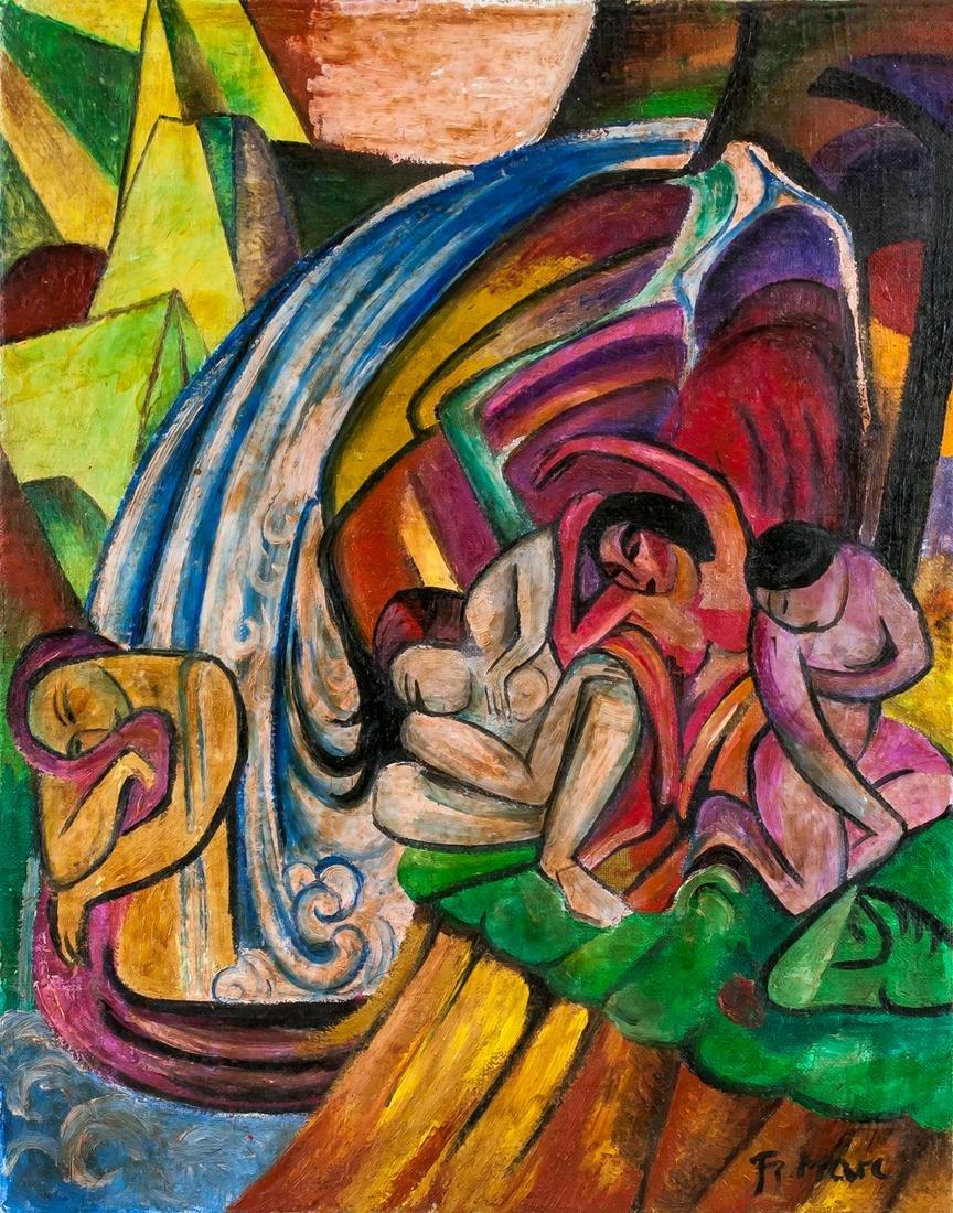 Franz Marc German Expressionist Oil on Canvas
