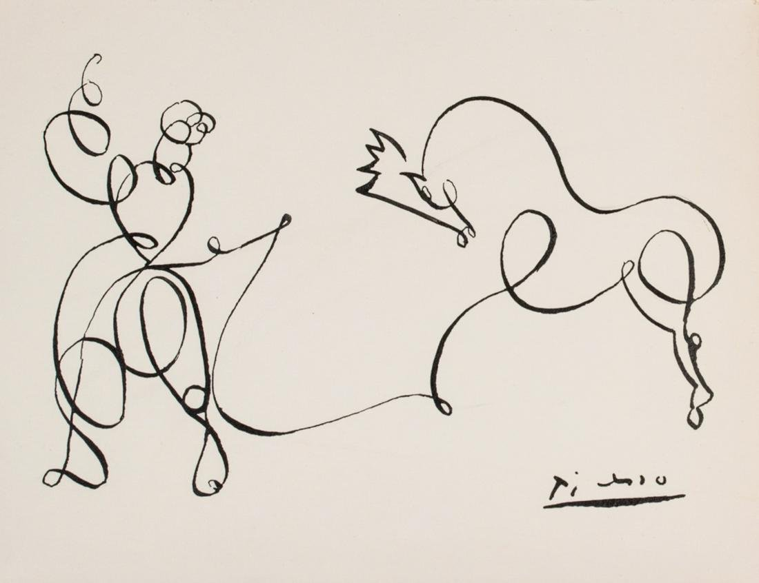 Pablo Picasso Spanish Cubist Signed Lithograph