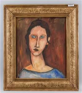 Amedeo Modigliani Italian Fauvist Oil Portrait
