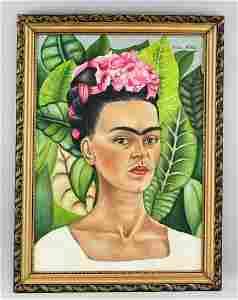 Frida Kahlo Mexican Surrealist OOC Portrait