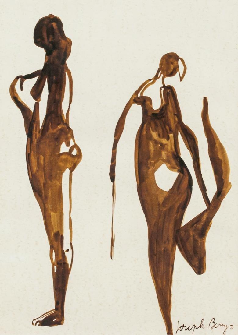 Joseph Beuys German Fluxus School Gouache Paper