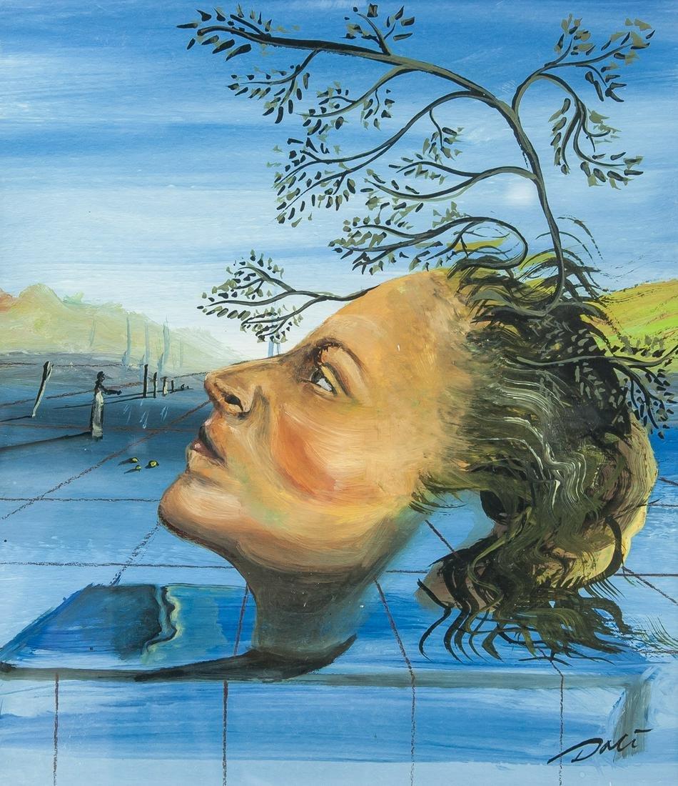 Salvador Dali Spanish Surrealist Gouache on Paper