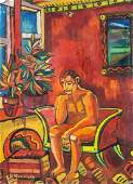 After Georges Rouault French Fauvist Oil Canvas