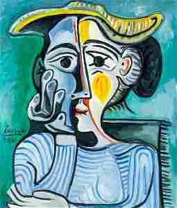 Pablo Picasso Spanish Cubist Oil Canvas 3.4.61