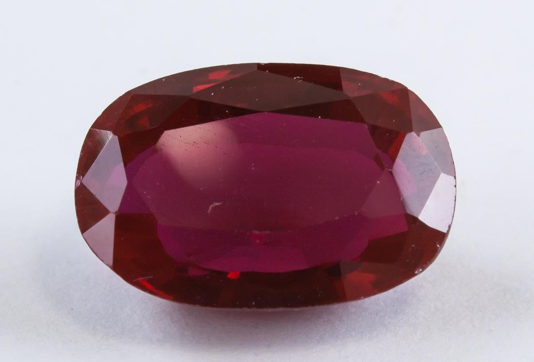 13.10ct Blood Red Oval Cut Ruby Gemstone AGSL
