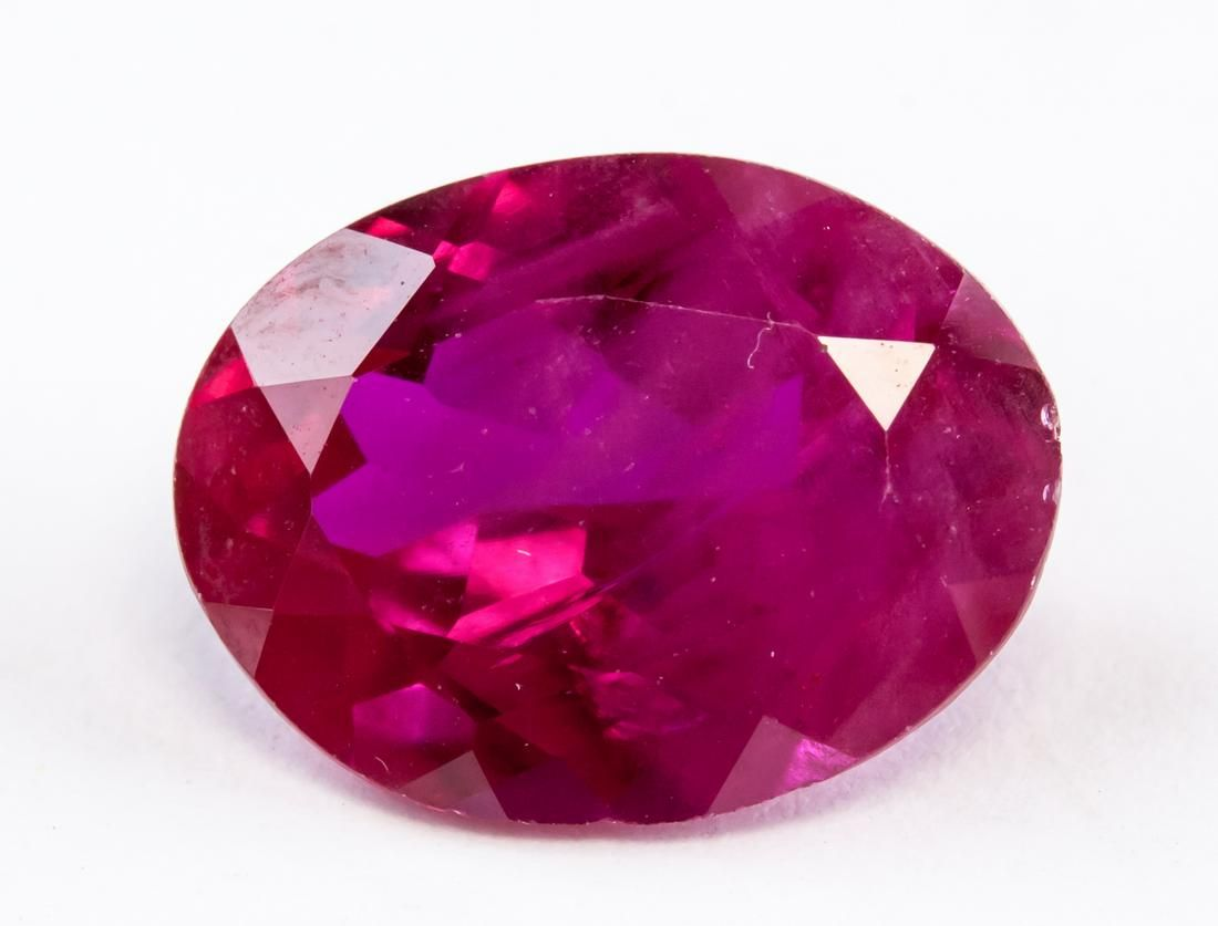 5.00ct Pinkish Red Oval Cut Ruby Gemstone AGSL