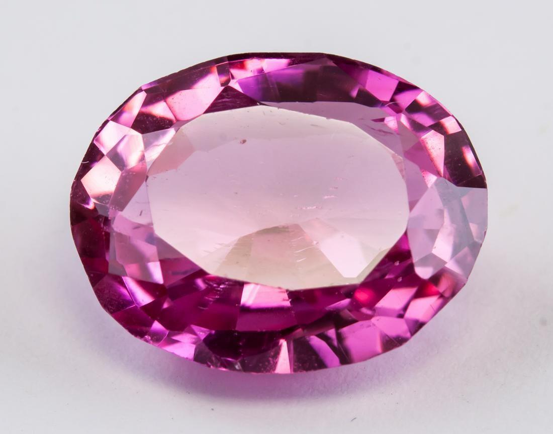 9.75ct Pink Oval Cut Ruby Gemstone AGSL