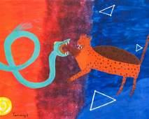 Rufina Tamayo Mexican Surrealist Oil on Canvas
