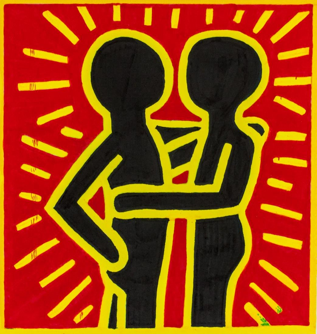 Keith Haring American Pop Maker on Paper '88