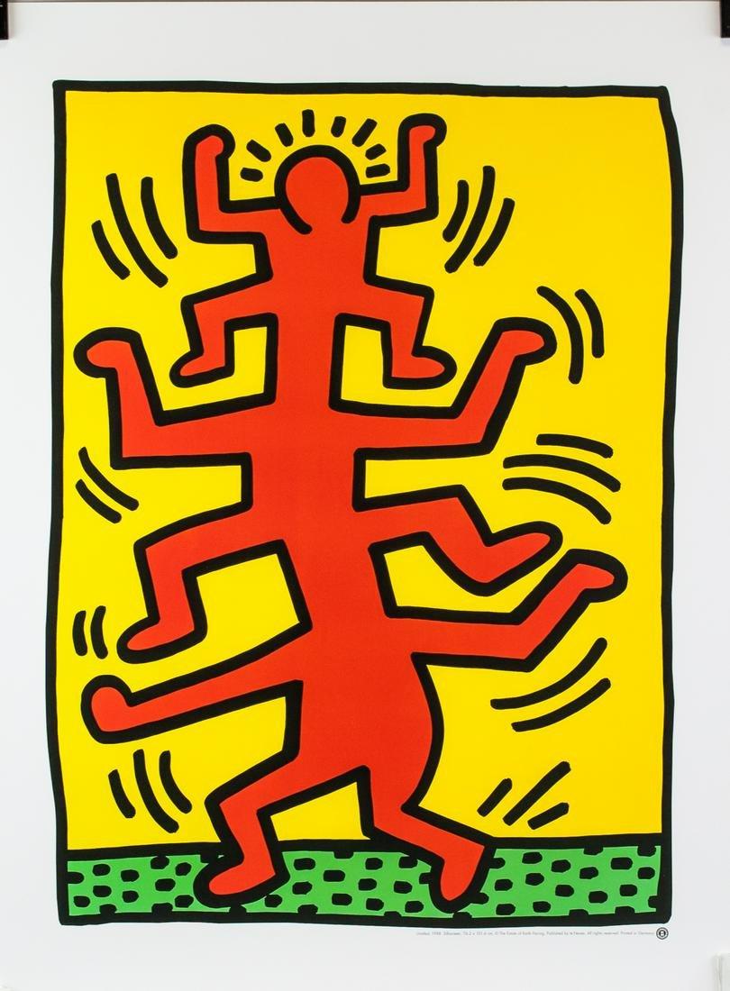 Keith Haring American Pop Signed Silkscreen Print
