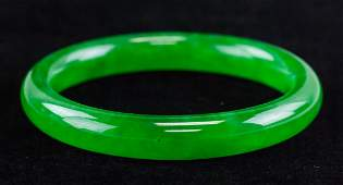 Imperial Burma Green Jadeite Bangle GIA Cert